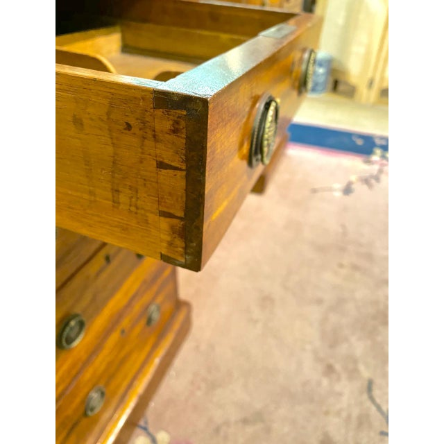 English 19th Century Pedestal Desk For Sale - Image 4 of 12