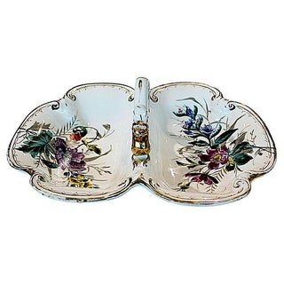 Hand-Painted German Bowl For Sale
