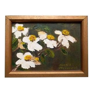 """1970s Vintage Dorsee Sternberg """"Dogwood"""" Framed Painting For Sale"""