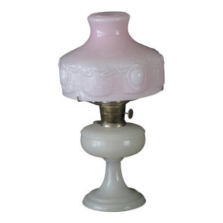 Antique Turn-Of-The-Century Aladdin Co. Venetian Oil Gas Kerosene Lamp For Sale