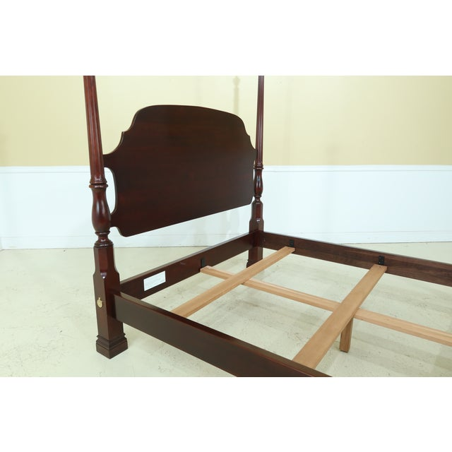 Wood Stickley Queen Size Cherry High Back Poster Bed For Sale - Image 7 of 12