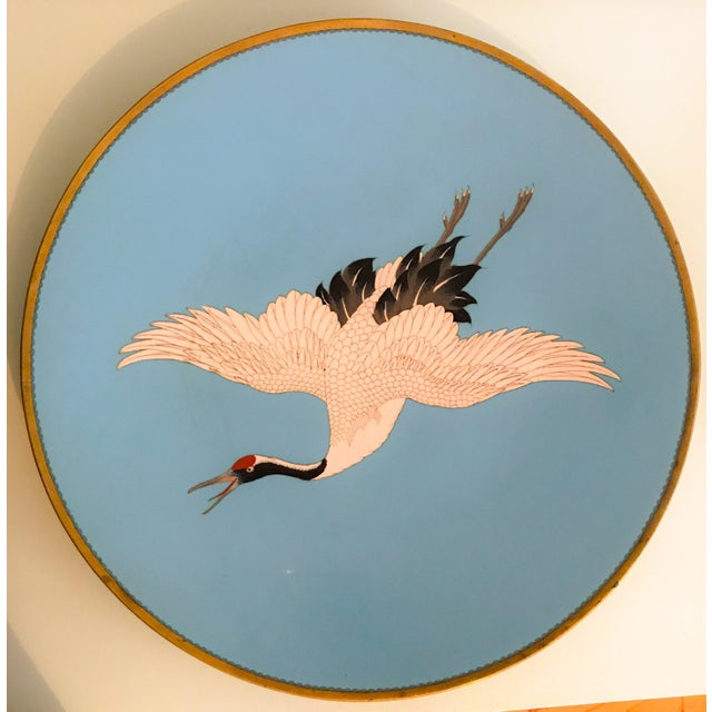 Large Turquoise Bird Platters - a Pair For Sale - Image 4 of 6