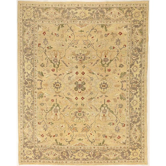 """2000 - 2009 Contemporary Afghan Tabriz Style Rug-8x9'9"""" For Sale - Image 5 of 5"""