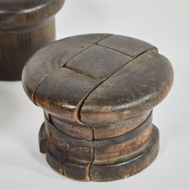 Antique French Wooden Hat Sculpture For Sale - Image 4 of 8