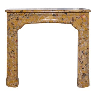 Louis XIV Style Brèche d'Alep Marble Mantel, circa 18th Century For Sale