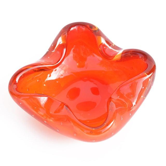 Glass Italian Design Galliano Ferro Murano Glass Ashtray For Sale - Image 7 of 9