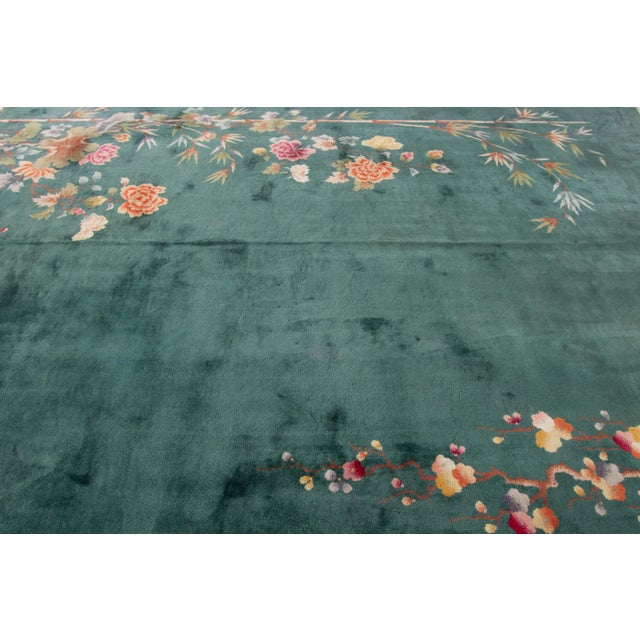 "Apadana-Antique Chinese Rug, 8'9"" X 11'6"" For Sale - Image 9 of 11"