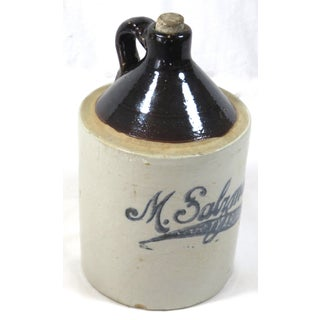 Antique American Stoneware Advertising Jug Preview