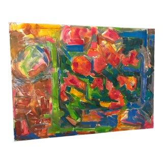 """Trixie Pitts """"Florist Window"""" Oil Painting on Canvas For Sale"""