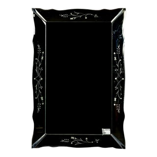 Extra Large Venetian Mirror With Scalloped Frame