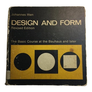 1975 Design and Form Johannes Itten Bauhaus Book