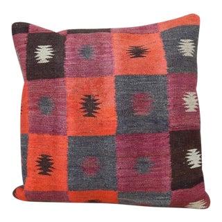 Handmade Turkish Kilim Rug Pillow For Sale