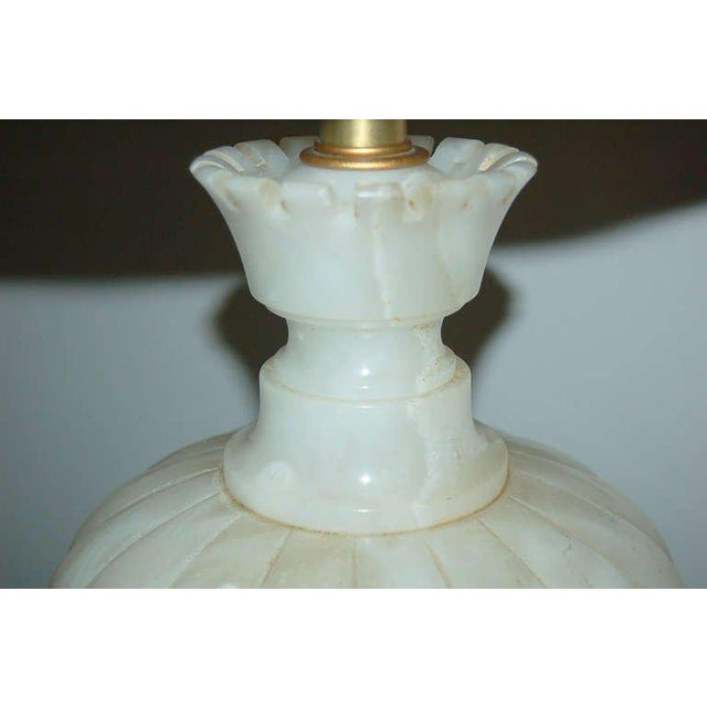 1950s Marbro Alabaster Table Lamp White Large For Sale - Image 5 of 10