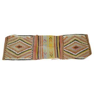 Vintage Turkish Tribal Kilim Bag Face For Sale