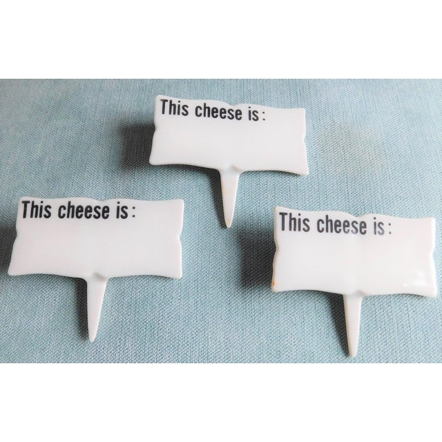 Mid-Century Porcelain Cheese Markers - Set of Six For Sale In New York - Image 6 of 9