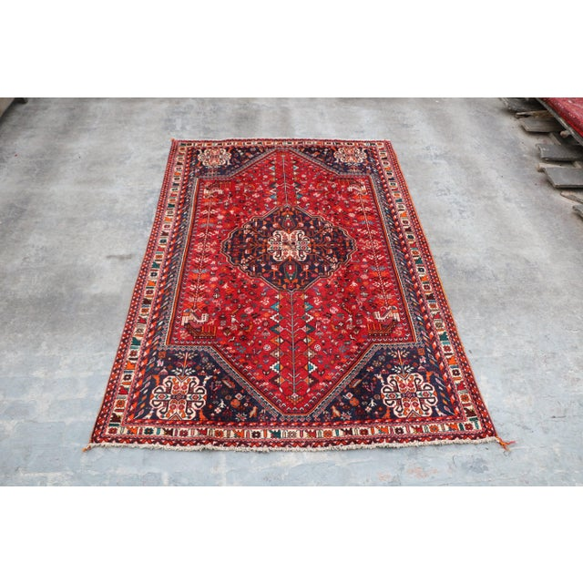 "1970's Persian Qashqai Area Rug-6'4'x9'4"" For Sale - Image 10 of 10"