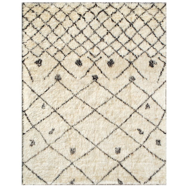 "Moroccan Lamb's Wool Rug- 6' X 9 2"" - Image 1 of 2"