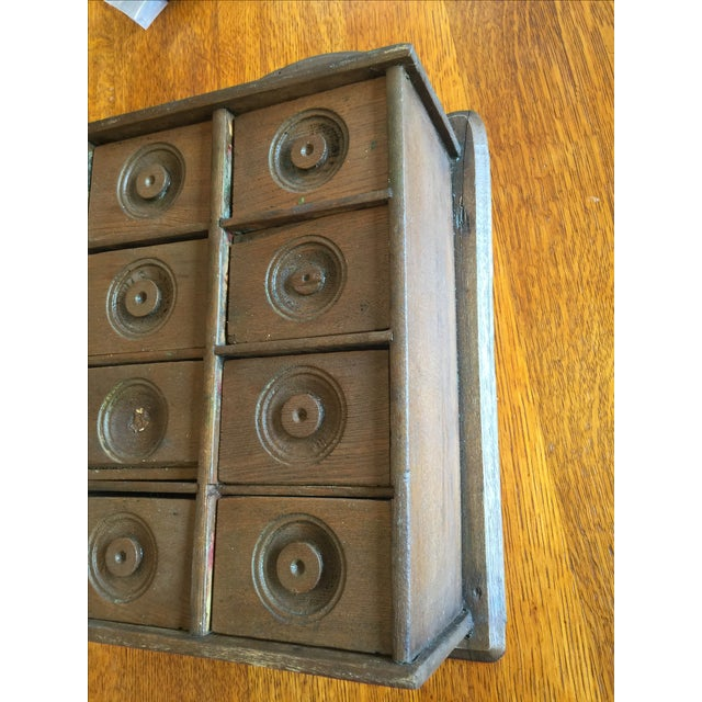 Antique Rustic Spice Box - Image 5 of 8