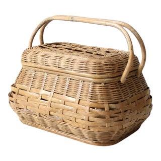 Mid 20th Century Vintage Picnic Basket For Sale