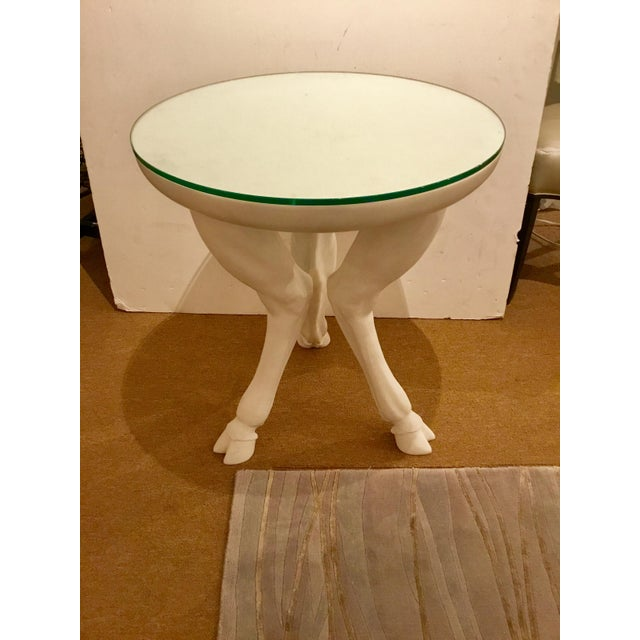 Original Retail $3600, unique stylish Arteriors Angora Side table by Barry Dixon, inspired by the sculptural hind legs of...