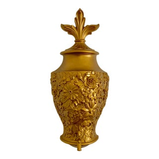 Vintage Art Deco Wall Hanging Gold Fountain For Sale