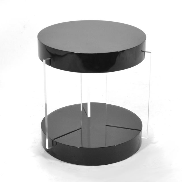 Vladimir Kagan Vladimir Kagan Lucite Leg Side Table For Sale - Image 4 of 6