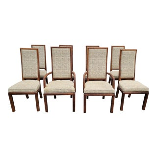 Set of Eight Vintage Mid Century Modern Henredon Dining Room Chairs For Sale