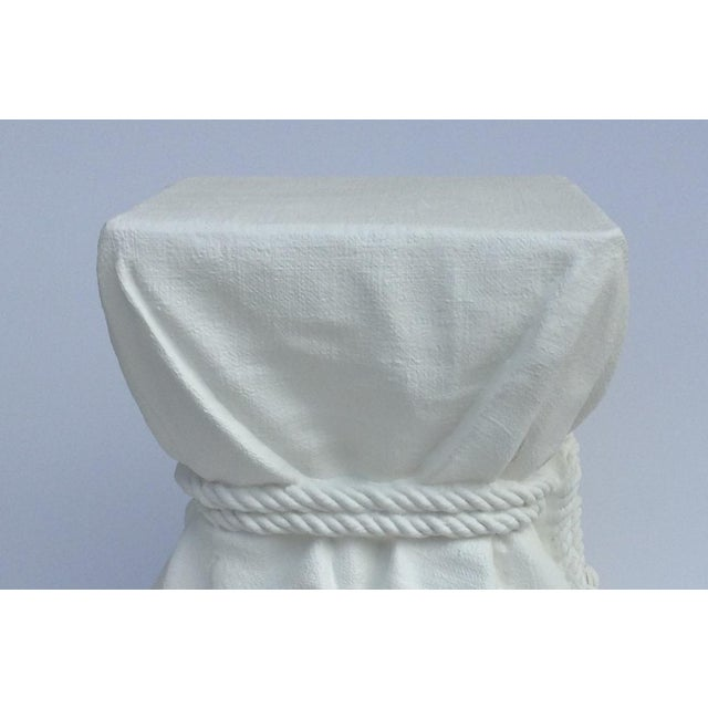 Textile John Dickinson Attributed Draped Plaster Side Table Pedestal For Sale - Image 7 of 11
