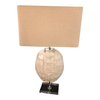 Turtle Shell Shaped Table Lamp on Acrylic Base For Sale