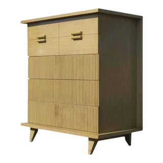 1952 American of Martinsville Faux Bamboo 5-Drawer Chest For Sale