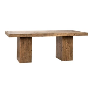 Rustic Modern Reclaimed Wood Table For Sale
