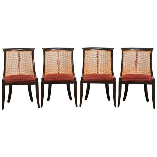 James Mont Style Ebonized Dining Chairs - Set of 4 For Sale - Image 13 of 13