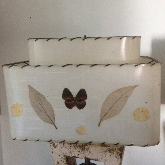 Deco Butterfly Cork Lamps - A Pair - Image 8 of 10