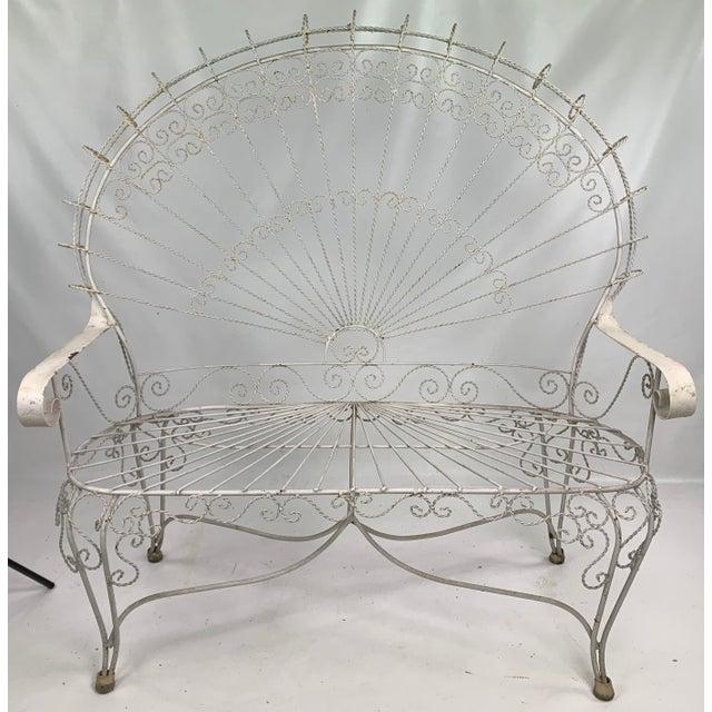 Mid-Century John Salterini CastIron Peacock Settee For Sale - Image 11 of 11