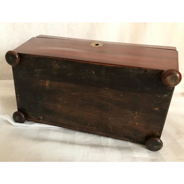 19th Century English Rosewood Tea Caddy For Sale - Image 10 of 11