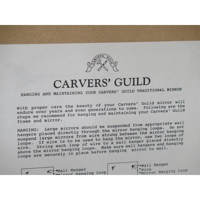 2000 - 2009 Carvers Guild Highly Carved Frame Gold Mirror For Sale - Image 5 of 11