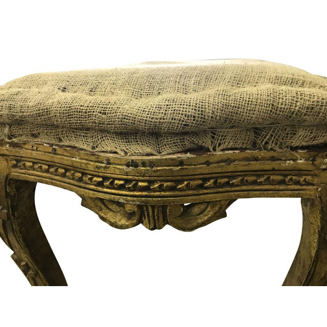 French Louis XV Style Vintage Deconstructed Bench For Sale - Image 3 of 6