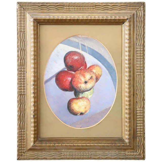 Oil Paint 20th Century Italian Oil Painting on Wood Panel by Valentino Ghiglia For Sale - Image 7 of 7