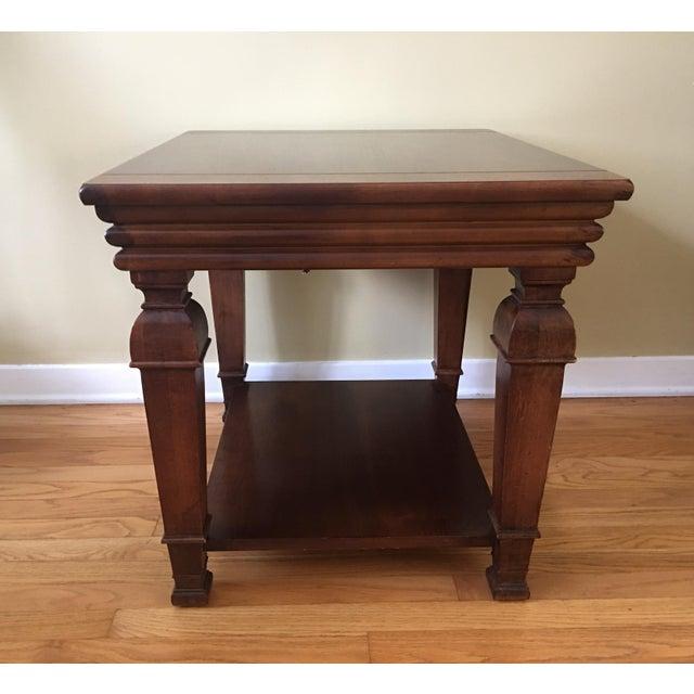 Used Lane Coffee Table: Lane Furniture Rectangular Wood Side Table