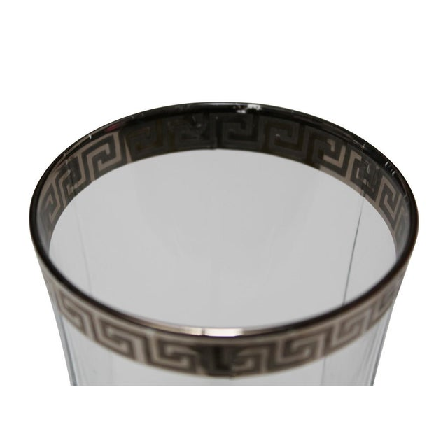 Silver Greek Key Tumblers - Set of 4 For Sale - Image 4 of 4