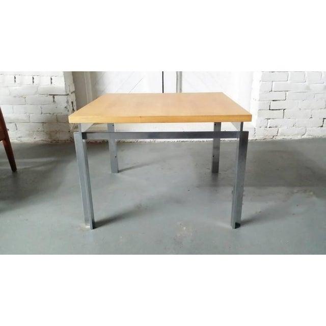 "Mid-Century Modern Rare Poul Kjaerholm Pk55 ""Variant"" Table For Sale - Image 3 of 6"