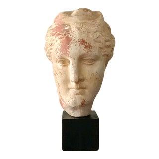 Vintage Greek Goddess Museum Reproduction Head Sculpture For Sale
