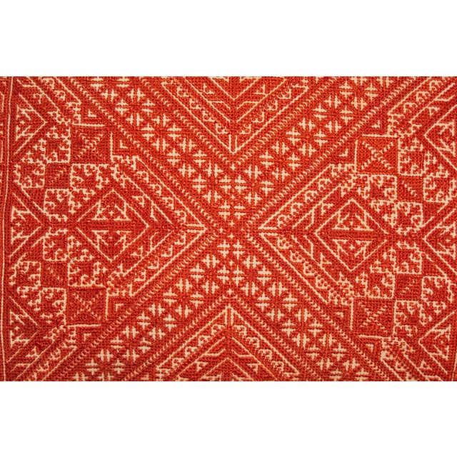 Islamic Moroccan Fez Embroidery Pillow For Sale - Image 3 of 6