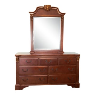 French Country Bedroom Dresser and Mirror Combo For Sale