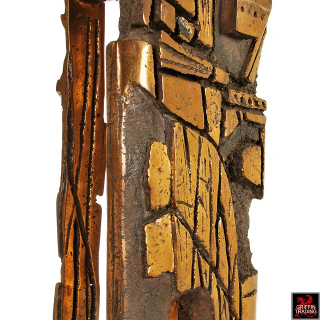 Bronze Brutalist Abstract Sculpture For Sale - Image 10 of 13