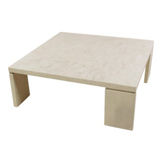 1990s Vintage Slimline Tessellated Stone Cocktail Table For Sale