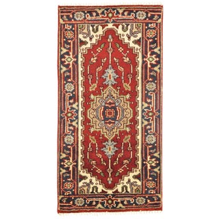 Pasargad N Y Serapi Design Hand-Knotted Rug - 2' X 4'