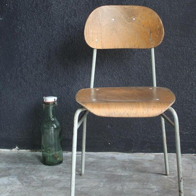 vintage plywood schoolhouse chair chairish