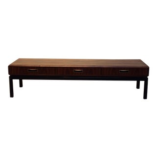 Mid-Century Modern Low Console Table For Sale