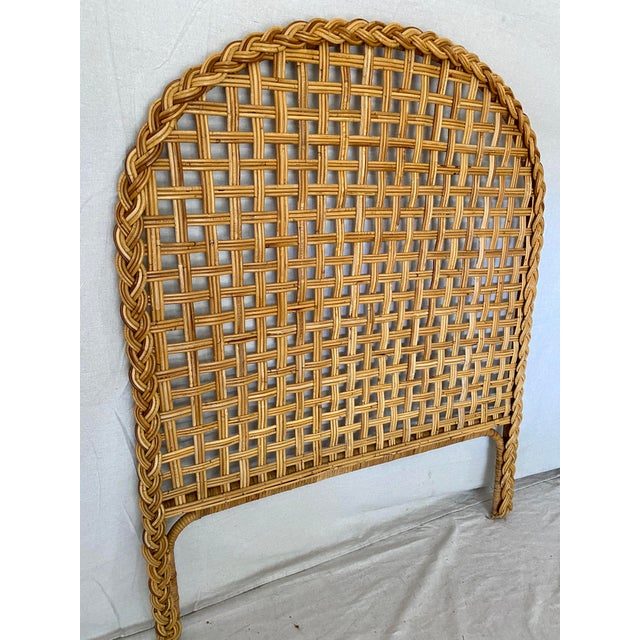 Vintage Woven Braided Rattan Headboards- a Pair For Sale - Image 9 of 13